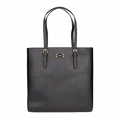 3ba06446a24 Michael Kors Jet Set Travel Black Large Ns Saffiano Leather Tote,shoulder  Bag