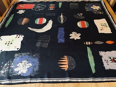 QUIRKY VINTAGE ESPRIT HAND ROLLED SILK SCARF.  MINT.  33 x 32 INCHES.  FAB!-