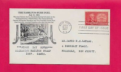 #1086 Alexander Hamilton Fdc Killed In Duel By Vice President Aaron Burr