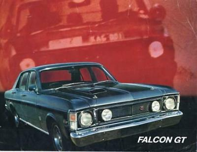 FALCON GT 351 XW 19 Original FORD  rare   BROCHURE / LEAFLET  DBLE SIDED VGC