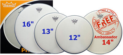 Remo PP-1010-BE Coated Emperor Drum Head Pack (NEW)