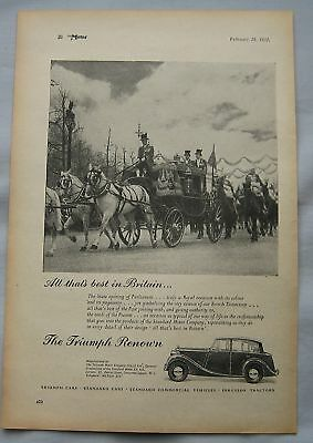 1951 Triumph Renown Original advert No.2
