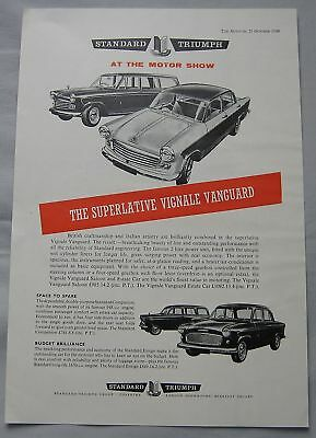 1960 Triumph Vignale Vanguard Original advert