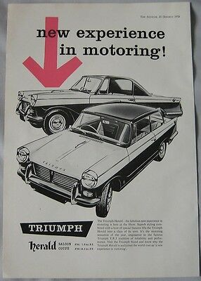 1959 Triumph Herald Original advert