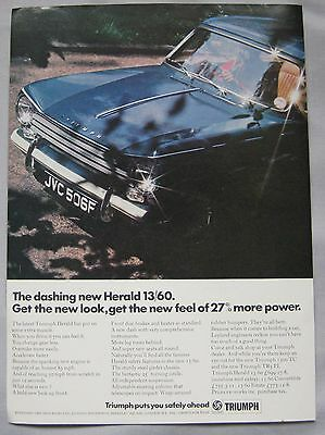 1967 Triumph Herald 13/60 Original advert