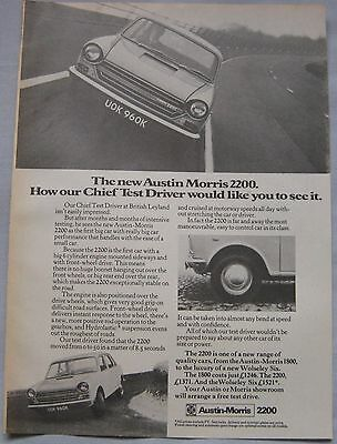 1972 Austin Morris 2200 Original advert