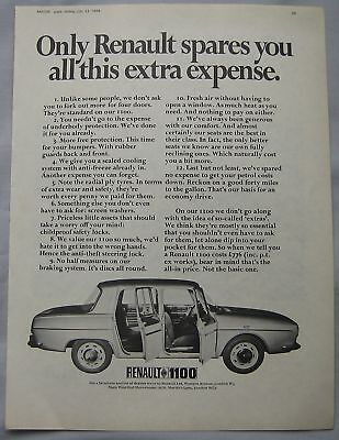1969 Renault 1100 Original advert