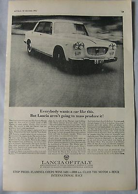 1962 Lancia Flavia Original advert