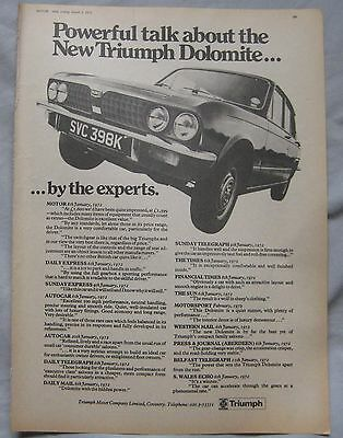 1972 Triumph Dolomite Original advert No.2