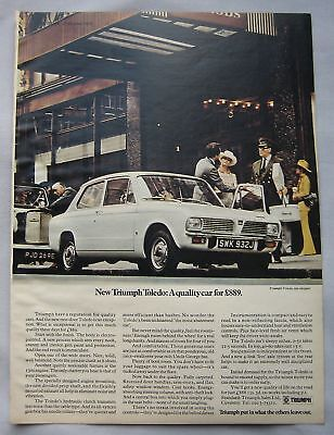 1970 Triumph Toledo Original advert