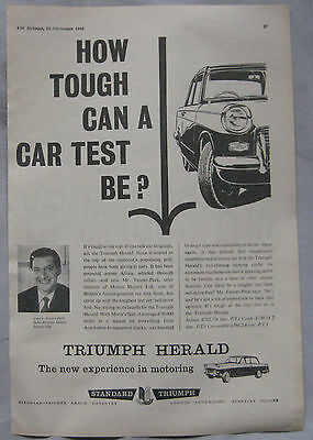 1960 Triumph Herald Original advert No.2