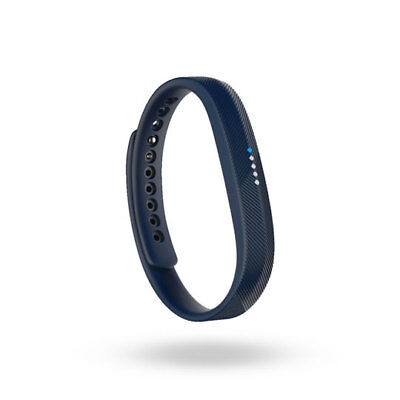 FitBit Flex 2 Waterproof Activity Tracker with adjustable Navy Band