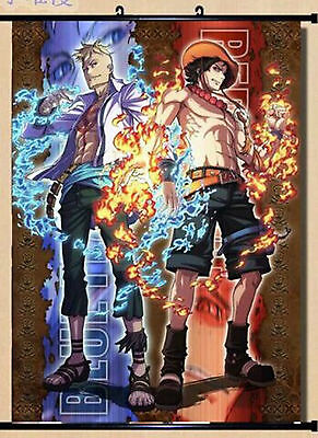 One Piece Portgas.D.ACE Marco Home Decor Anime Japanese Poster Wall Scroll