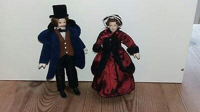 Dolls House Emporium Dolls Man Lady Doll Mixed Lot 12Th Scale Furniture