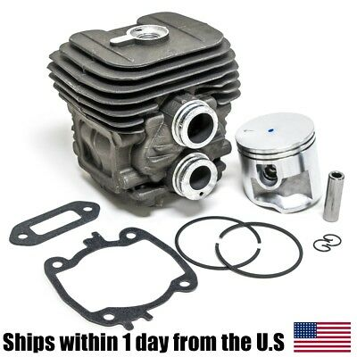 TS410 TS420 Cylinder Head Piston Kit  With Rings Pin Clips 50MM for Stihl