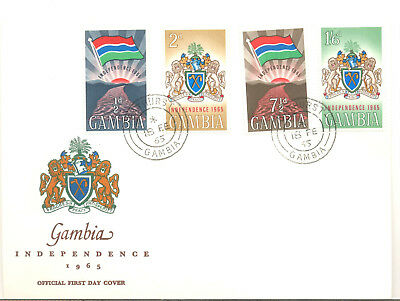 Gambia colourful 1965 Independence first day cover