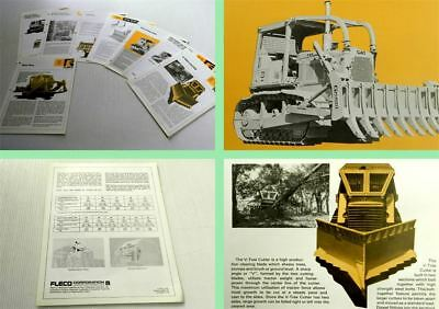 8 Brochures Fleco Attachments for CAT Caterpillar  ca 1970