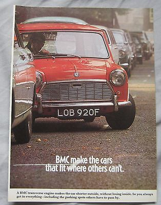 1968 BMC Mini Original advert