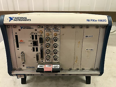 NATIONAL INSTRUMENTS NI PXIe-1062Q MAINFRAME w/PXIe-8105, PXI-4461, PXI-4462