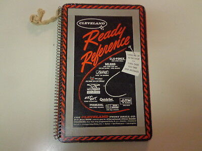 Cleveland Drill Ready Reference Shop Machinist Wall Chart Booklet 1964