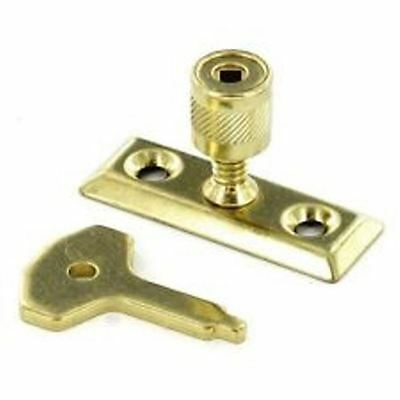 Securit Window Stay Lock Brass X 2 new