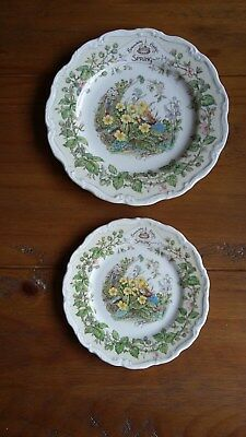 "Brambly Hedge Spring Decorative Collectable Plates ....8"" & 6"""