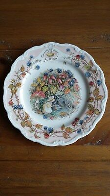 "Brambly Hedge AUTUMN Decorative 8"" Collectable Plate ."