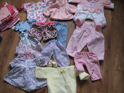 dolls assorted clothes 10 to 16inches 15 in all a pair of shoes included