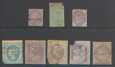 GB QV Small Collection of Revenue & Fiscal Used Stamps