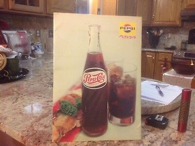 Vintage Pepsi Cola Soda Pop Bottle table top or hanging Sign
