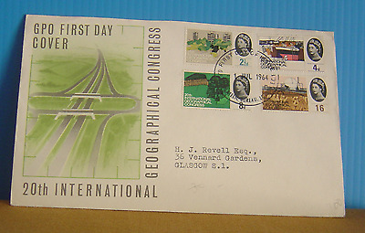 1964 GPO 20th International Geographical Congress FDC