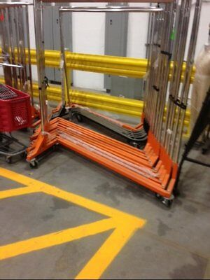 Z RACKS Commercial Straight Rolling Rack Used Clothing Store Fixture LIQUIDATION
