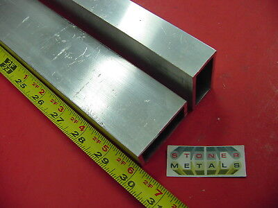 "5 Pieces 1""x 2""x 1/8"" Wall ALUMINUM RECTANGLE TUBE 30"" long 6063 T52 tubing"