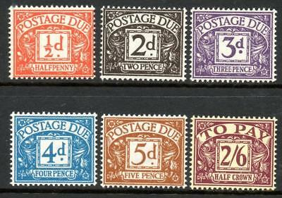 1954-55 Postage Due Set Of 6, Very Fine Mnh