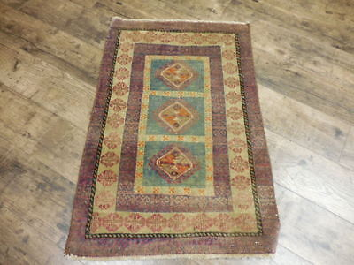 Ca1930s VE DY ANTIQUE PERSIAN QASHQAI TURKEMAN SERAPI 2x2.10 ESTATE SALE RUG