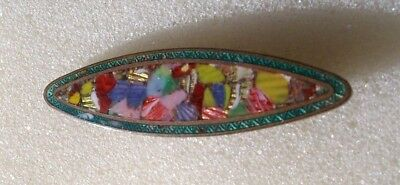 An Art Nouveau Enamel Bar Brooch