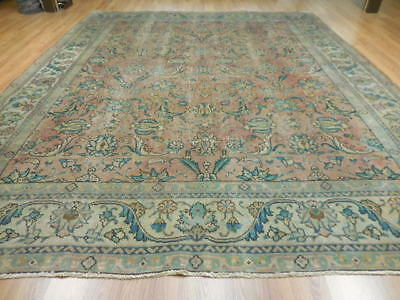 C1880 VE DY ANTIQUE PERSIAN TABATABE TABRIZ SERAPI HERIZ 10x12 ESTATE SALE RUG