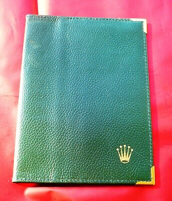 Genuine vintage Rolex green leather wallet very used ROLEX