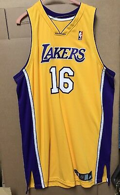 Pau Gasol #16 autographed Los Angeles Lakers Jersey with COA from 2008