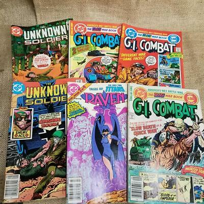 USED Comic Book Lot of 6 GI COMBAT DC Comics Raven Unknown Soldier ww2 Vietman