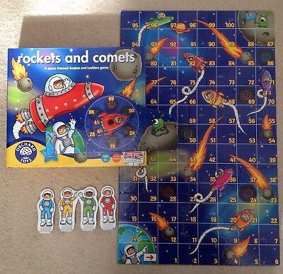 Orchard Toys Rockets And Comets Board Game Age 4 Plus