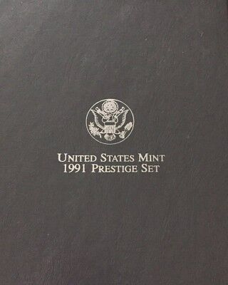1991-S Us Mint~Prestige Proof 7-Coin Set (Mt. Rushmore)~~Ogp~~Coa
