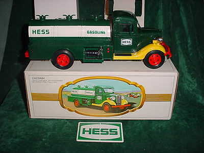 Christmas  Hess Trucks 1983 First Hess Truck Mib Black Switch Toys Collectible