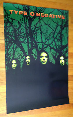 TYPE O NEGATIVE October Rust original 24x36 promo poster 2sided Roadrunner