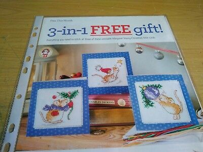 Cross Stitch Chart 3 Margaret Sherry Christmas  Mice Motif Charts Only