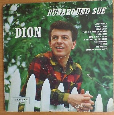 Dion  Runaround Sue   Original Us Laurie Lp