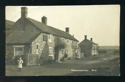 WARMINGTON  Northamptonshire  village view with people  RP