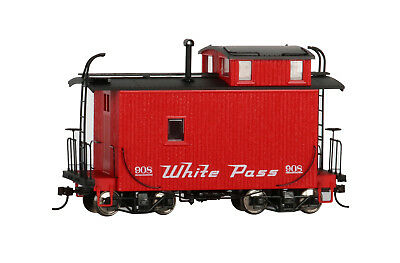 Bachmann On30 18 ft. Off-Set Cupola Caboose - White Pass & Yukon 26564