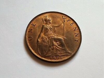 A Scarce 1898 Victoria Penny!!! Much Luster!!!