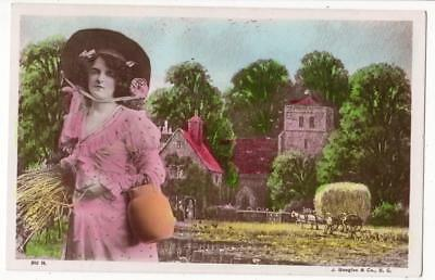 VINTAGE RP POSTCARD,MISS GABRIELLE RAY?,LOVELY FASHION,J BEAGLES 910H,c1910s